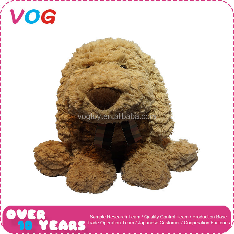 Promotional soft baby toys plush stuffed brown dog plush toy manufacturer
