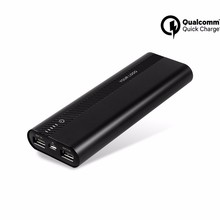new fast charging Qualcomm certification 2.0 portable 20000mAh mobile battery power bank quick charger 3.0