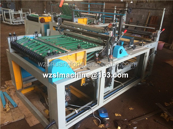Sheet feeding paper shopping bag tube making machine