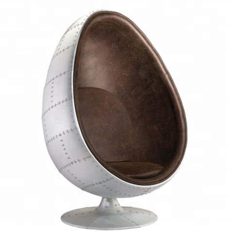 Leather Aviation Spitfire Aluminium Egg Pod <strong>Chair</strong>