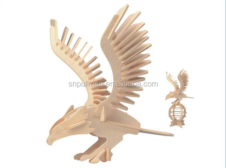 2016 Eagle wooden educational toy 3d wooden puzzle