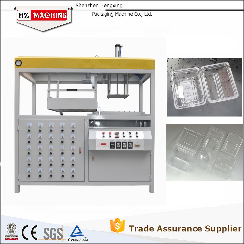 High Quality Container Tray Box Plastic Thermoforming Machine,Vacuum Former from Shenzhen Factory