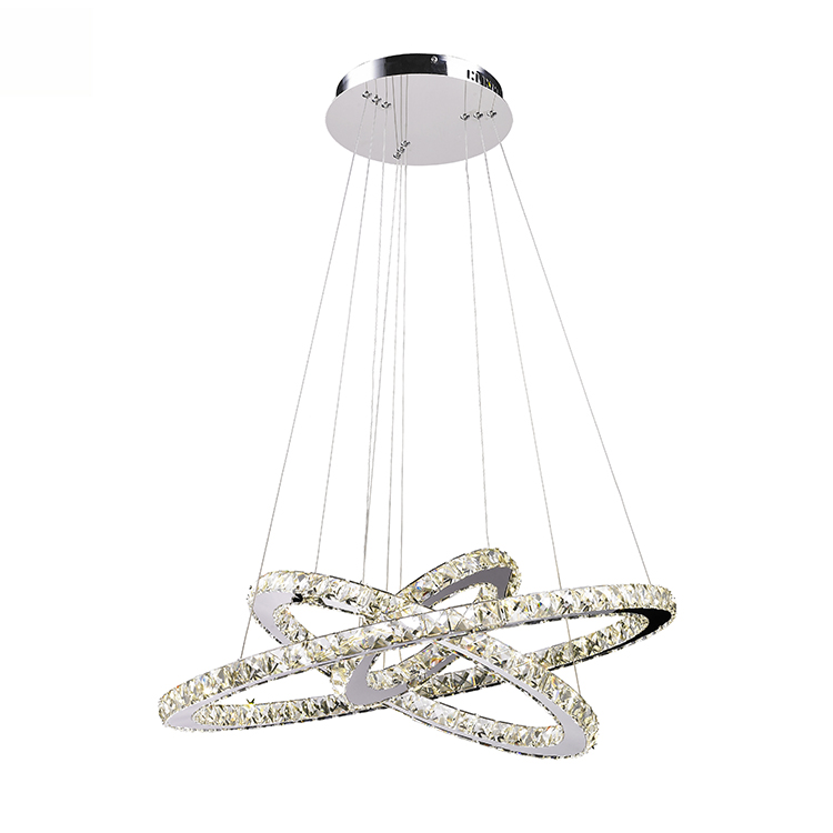 <strong>modern</strong> decorative hanging pendant lamp round k9 crystal pendant light for dining room