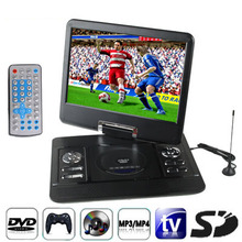 2016 Oversea LCD Screen LCD Digital portable dvd player with Portable mini DVD & USB Port, games portable dvd