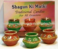 Indian decorative candle