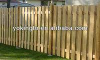 wooden roll fence