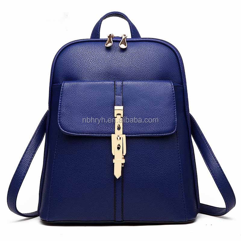 2017 Hot Sale Customized Women Fashion Triangle Backpack PU Leather Triangle Sling Messenger Bag for Girl/Lady Couples