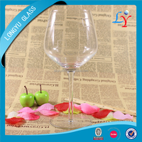600ml giant clear red wine glasses bubble stem wine glass cup
