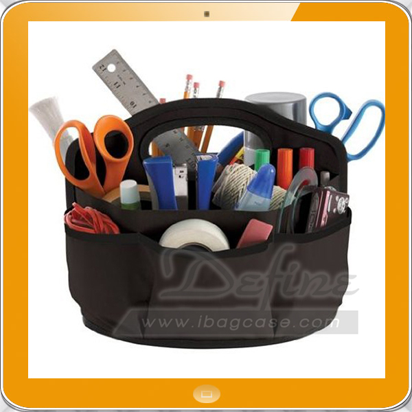 Sturdy multi-pocket canvas tools caddy