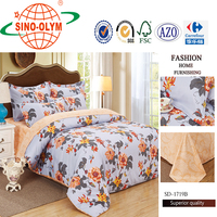 jaquired printed quilt cover and bed sheet aplic work sateen
