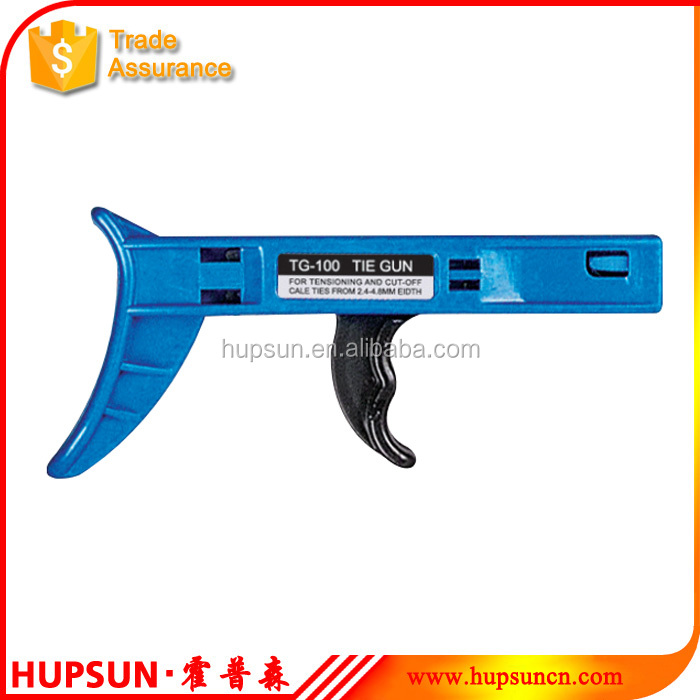 High quality TG-100 fastening tools for applicable width 2.4-4.8mm cable tie gun in cable ties