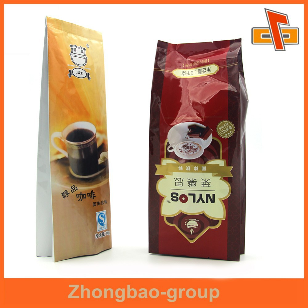Moisture proof coffee plastic pouch , coffee stand up bag fof packing coffee bean