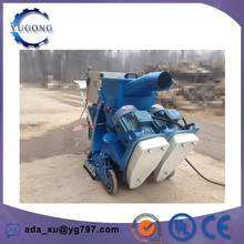 Mobile water tank cleaning machine with dust collection system for concrete