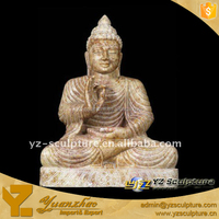 Eastern Hand Carving Natural large Stone Buddha Statue
