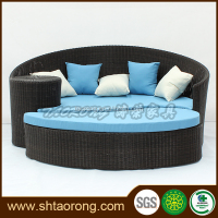 Outdoor waterproof aluminum wicker furniture sofa