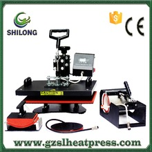 shilong phone case 4 in 1 multifuntional combo 3d sublimation vacuum dye t shirt heat press printing machine for sale