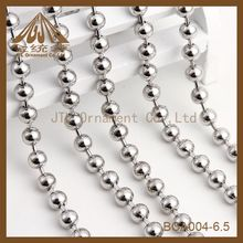 fashion iron ball chain plated silver necklace