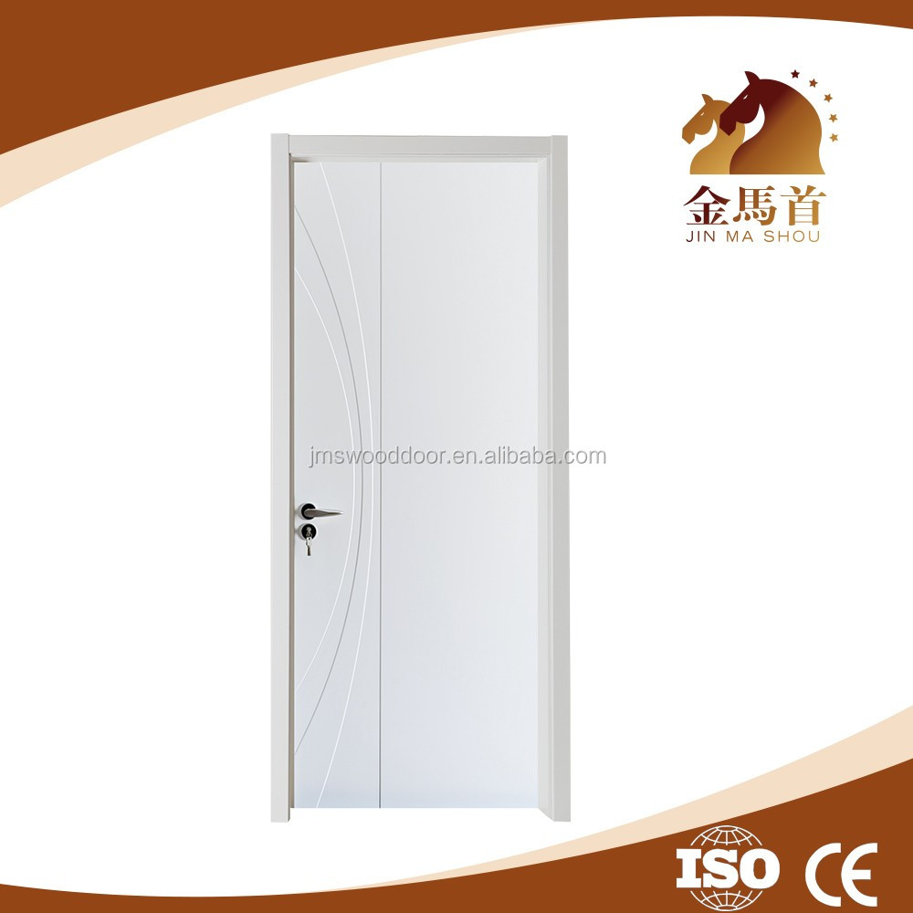 New fashion hot sale MDF pvc veneer wooden material factory designer door for bedroom