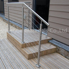 stainless steel cable rail with round vertical post