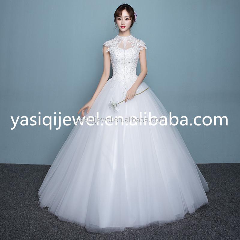 Backless Short Sleeve Lace Wedding Dresses, Backless Short Sleeve ...