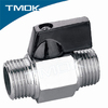 Forged equal shape male thread manual brass chrome plated mini ball valve with fashion design and low price