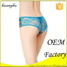 Professional colorful manufacturer lace women stain panties
