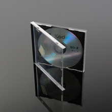 wholesale CD Case with black tray 10.4mm transparent single cd jewel case