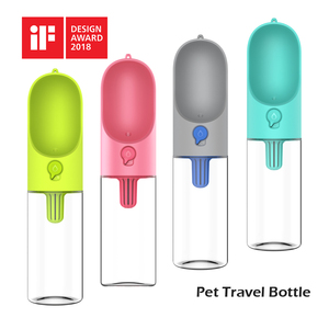 2017 best Christmas gift high quality portable dog travel water bottle pet drinker with activated carbon filter