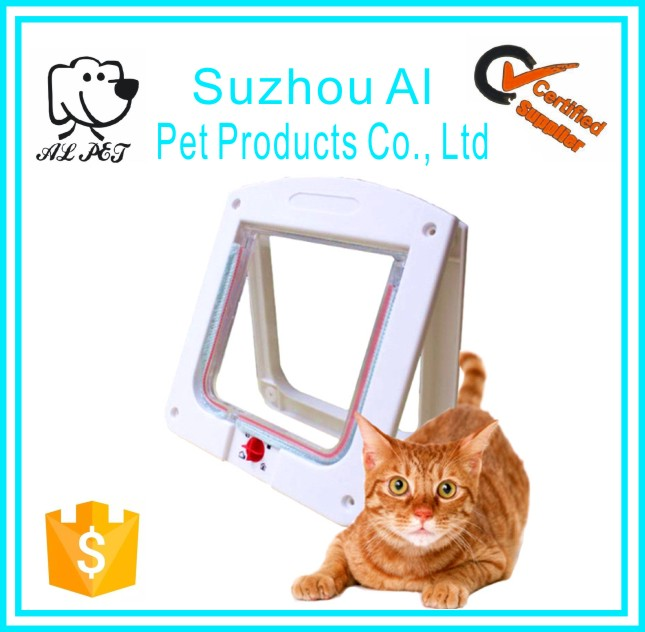 Secure Plastic 4 Way Lock Entry Exit Pet Cat Flap Door