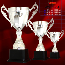 Hot selling cheap design silver champions league cup trophy