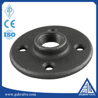 malleable iron pipe fitting class 150 black finish floor flange