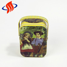 embossing stamp pencil tin box naivety Biscuits wrist tin custom food tin box