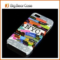 water transfer printing beautiful phone cover for iphone 5 5s