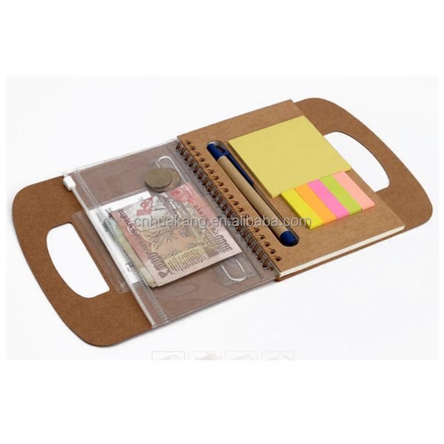 Eco Diary with Pen, Wallet, Sticky Pads & Carrying Handle