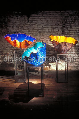 CustomizedColored Large Murano Blown Glass Bowl for Garden or Indoor Decoration
