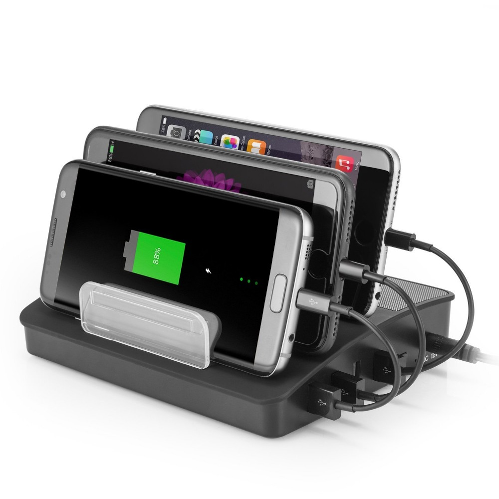 Cell phone multi device docking station with 4 USB port