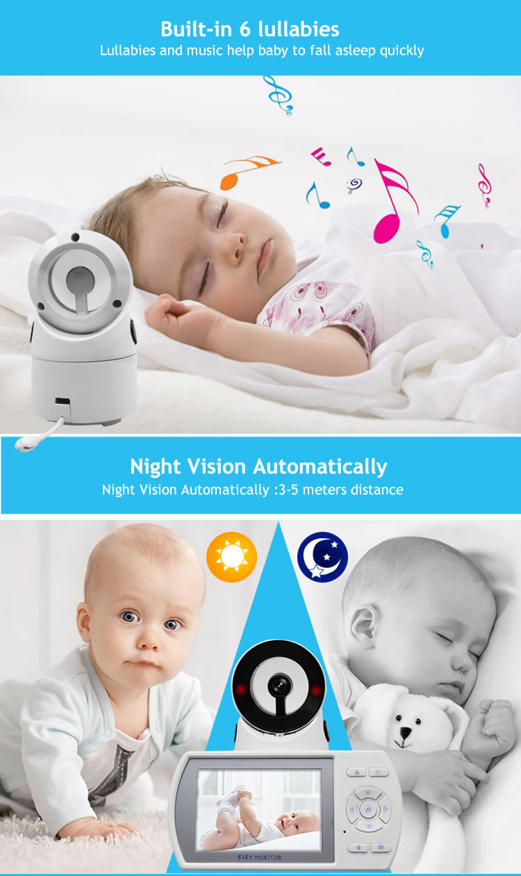 High Resolution 3.6-inch  2.4 G Wireless Digital Baby Monitor with camera