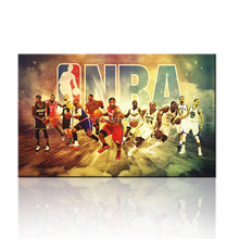 NBA Poster Wall Picture /Gift For Boys/Basketball Team Canvas Picture Painting