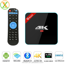 Global tv box Qplus Support IPTV Malaysia hdtv apk Amlogic S912 octa core Kodi installed Android 6.0 tv box q-plus