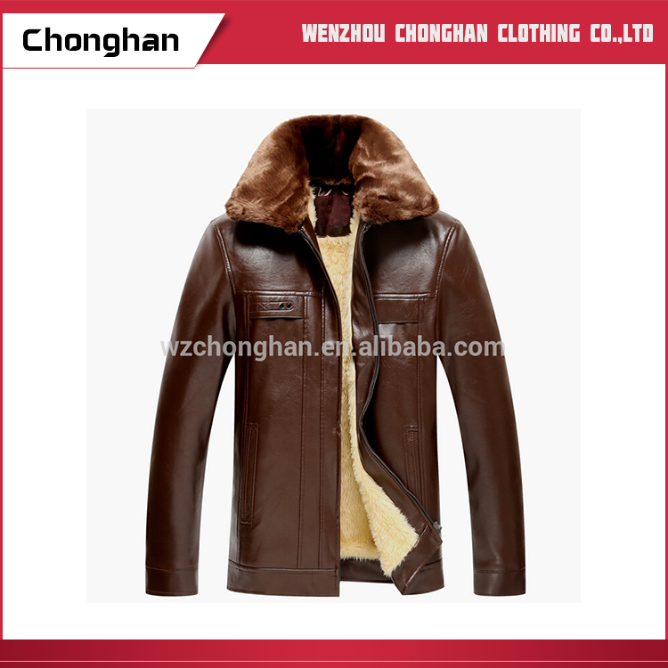 Chonghan Pakistan Most Popular Winter Brown Motorcycle Leather Jackets For Mens