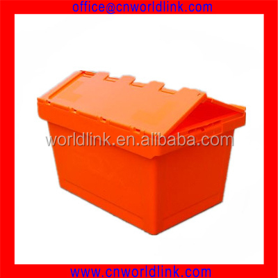 340 Super Attach Lid Moving Stacked Beautiful Plastic Clothing Tote Bin