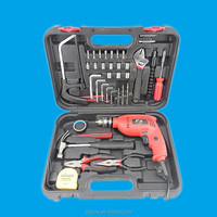 KAQI power tools electric drill with 38 sets spanner set in tool box