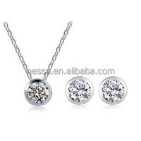 alibaba express gold plated bridal jewelry set