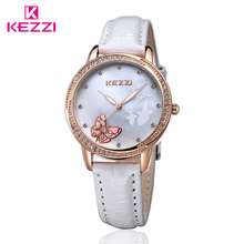 2017 hot selling diamond gift leather watch for girls