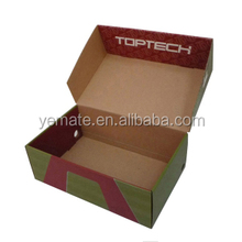 2017 gorgeous color stripe high heel shoe box, shoe packaging with different sizes supply