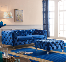 Dubai Fabric Velvet Leather Chesterfield Sofa Set Designs Living Room Furniture