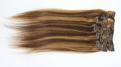 double wefted hair weft with highlight Virgin Hair