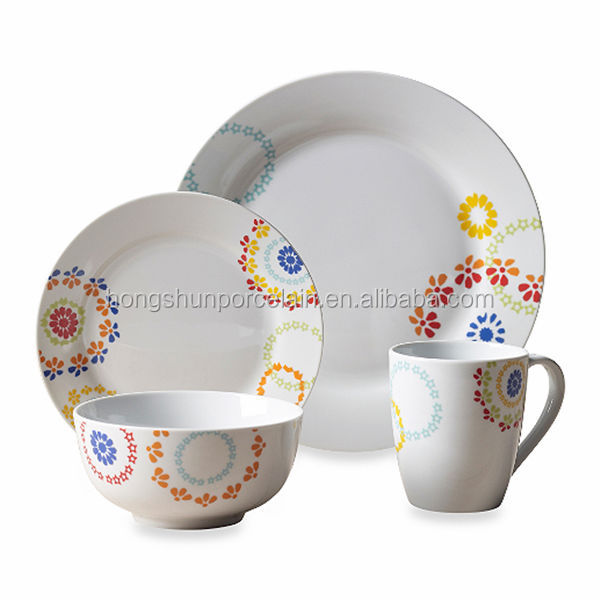 16pcs made in poland china dinnerware