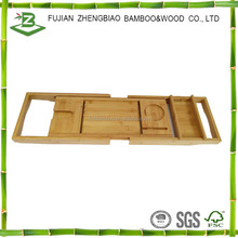 Bamboo bath tub caddy expandable