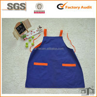 plain decorate blue welders leather apron